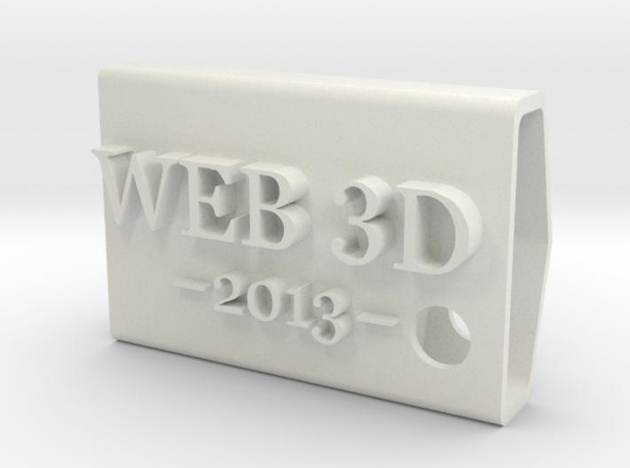 KeyFobWeb3d2013Spain 3d printed