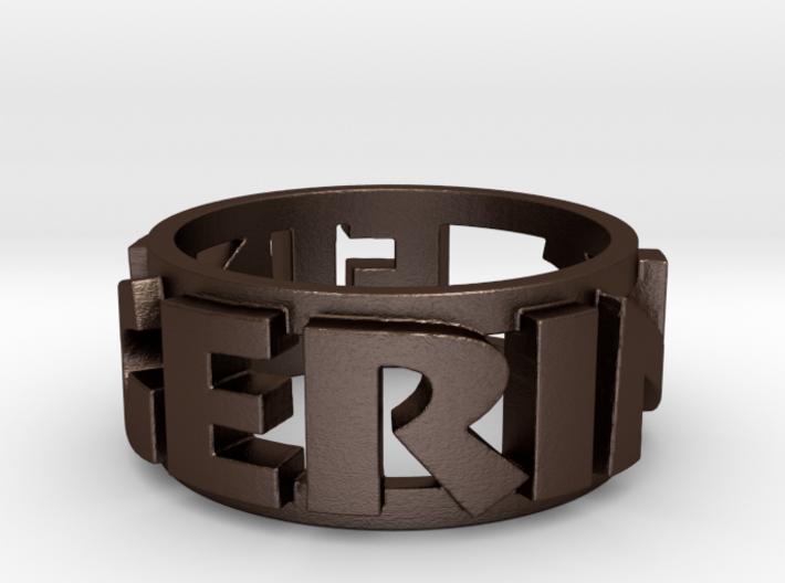 """Skrillex"" themed FingerRing Ring Size 9 3d printed"
