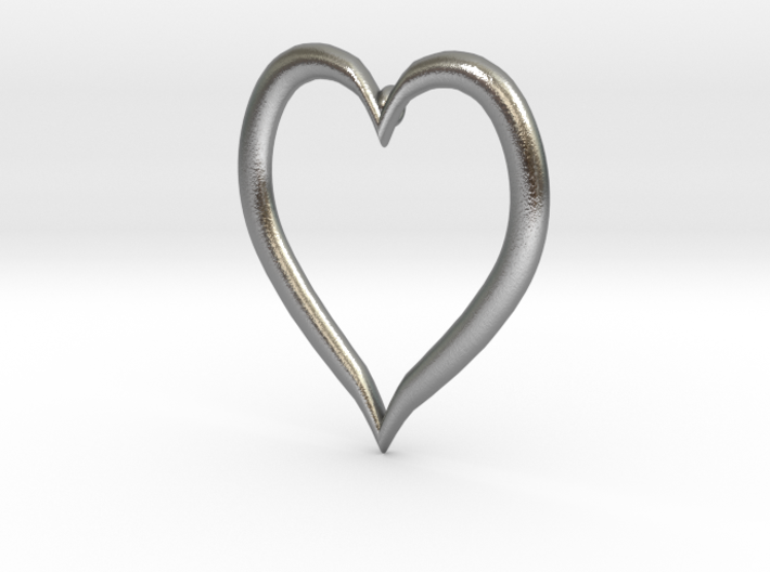 Heart Earring 3d printed