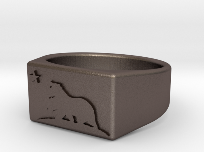 Size 11 - The New California Republic ring 3d printed