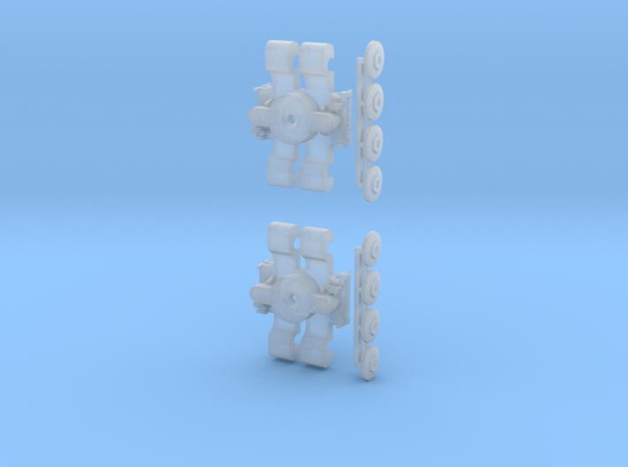 Drehgestell KT4D T5/6/7xx,  und KT8D5 1:160 3d printed