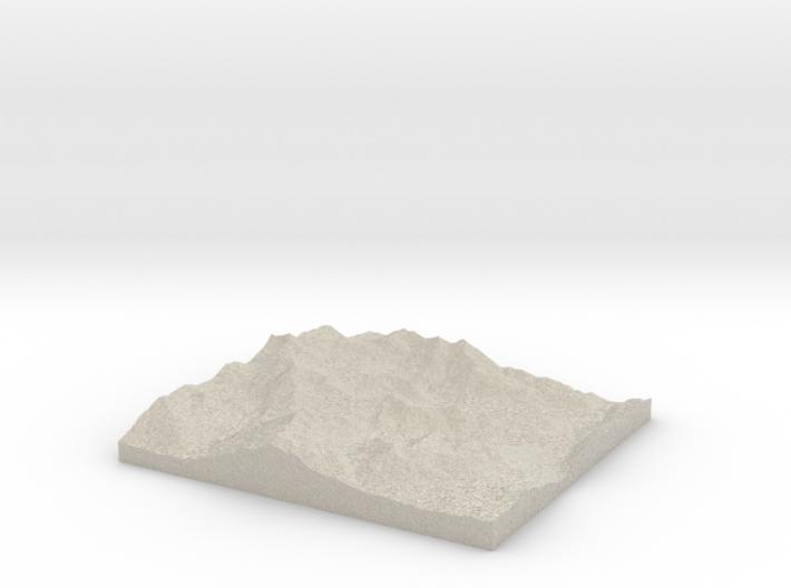 Model of Alpine Meadows 3d printed