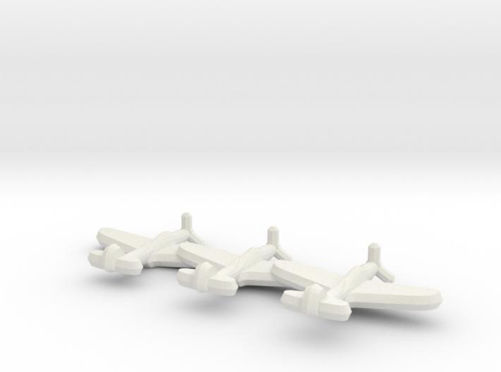 P-39 Airacobra (triplet) 1/900 3d printed