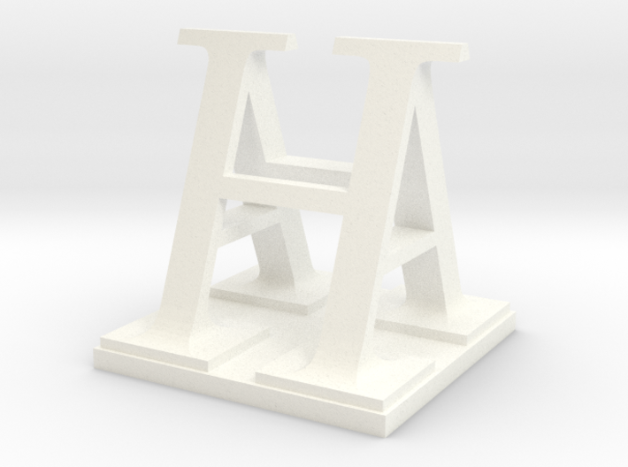 Two way letter / initial A&H XL 3d printed