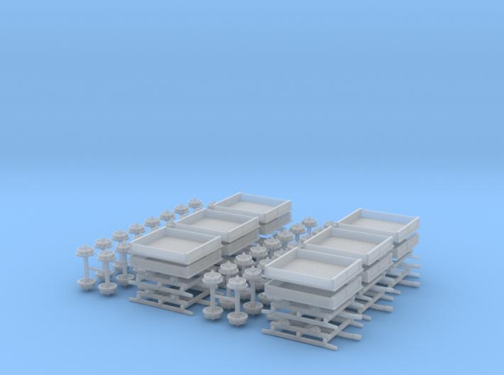 R13b and R14b N scale, 6 each 3d printed