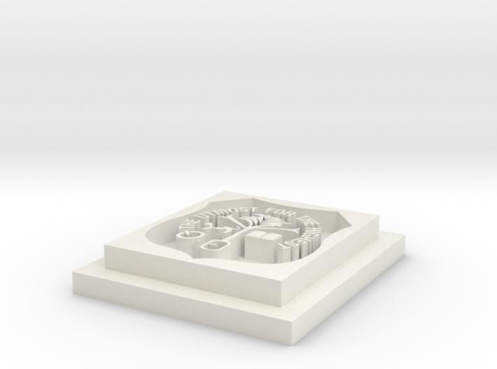 Calabar pendant 3d printed