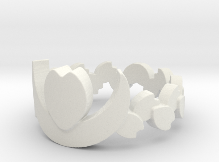 Cafe Nocturne Floral Band Ring Size 10.75 3d printed