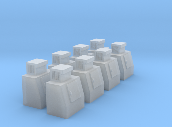 HO-Scale Slant Single Door Ice Cooler (8-Pack) 3d printed