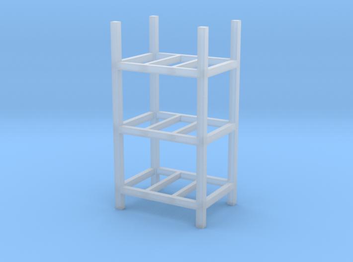 Steel Storage Racks 1-87 3 High 3d printed