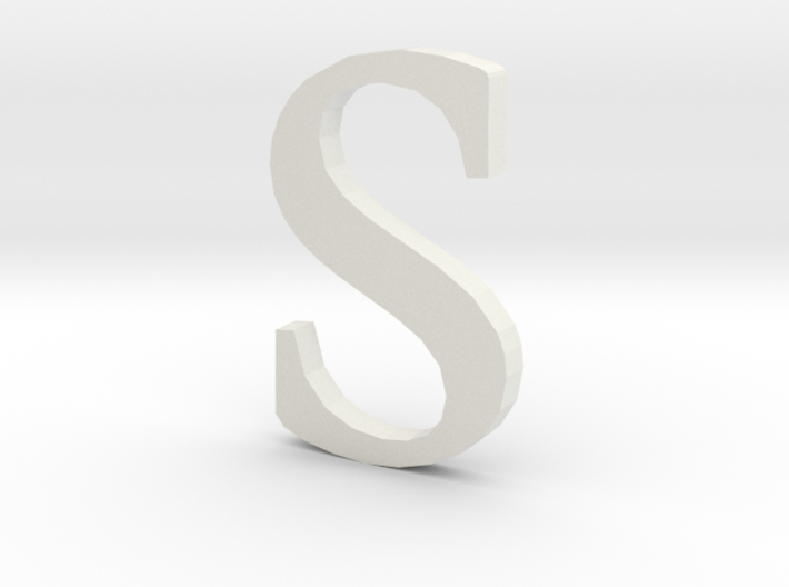 S (letters series) 3d printed