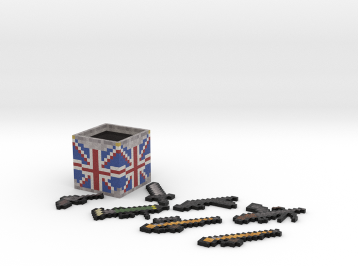 Flan's Mod British Guns and Weapon Box 3d printed
