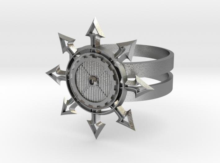 Chaos Star Ring 3d printed
