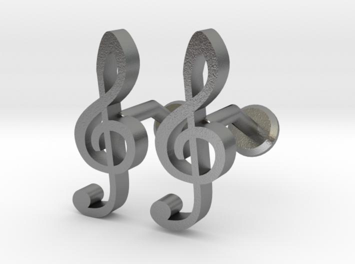 Treble Clef Cufflinks 3d printed