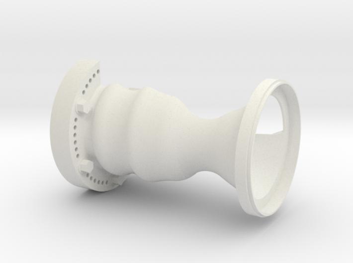 1-1 RCS Engine Cutaway Upper 1 3d printed