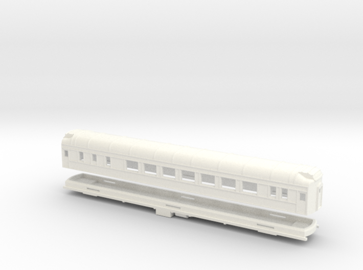 Z Scale Pullman Heavyweight Sleeper Car 3d printed