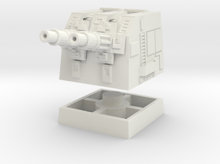 Turbolaser Short Turret Rotating 1/270 3d printed