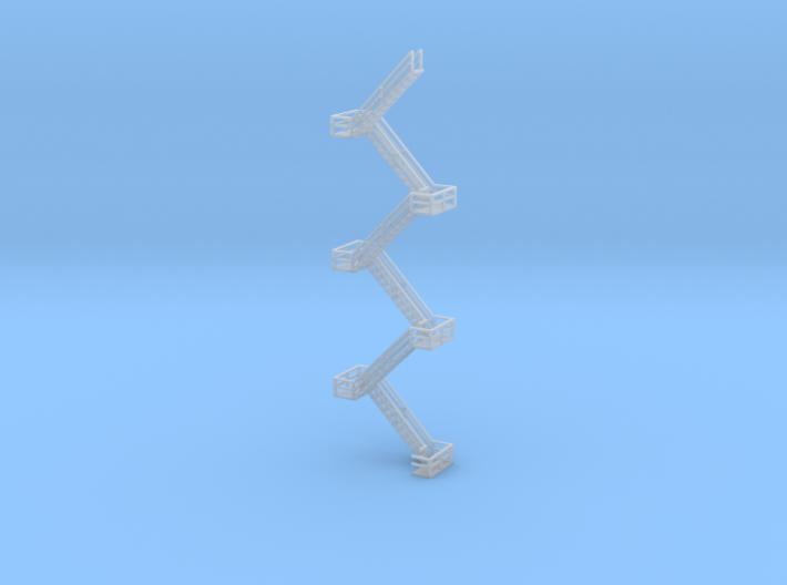 Industrial Stairs N Scale 3d printed