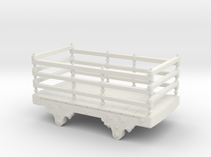 1:35 early Festiniog wood Slate wagon 3d printed