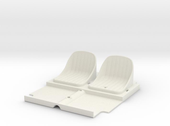 SR40006 Beach Buggy Seats 3d printed