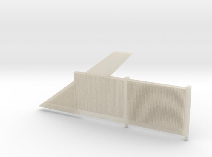 Beton-Schallschutzwand Mit Anfangselement Links-V3 3d printed