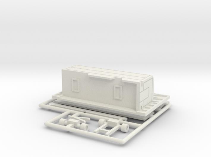 8 m Tonnendachbude 1:160 (n scale) 3d printed