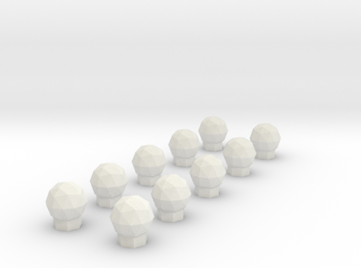 10 Domes 3d printed