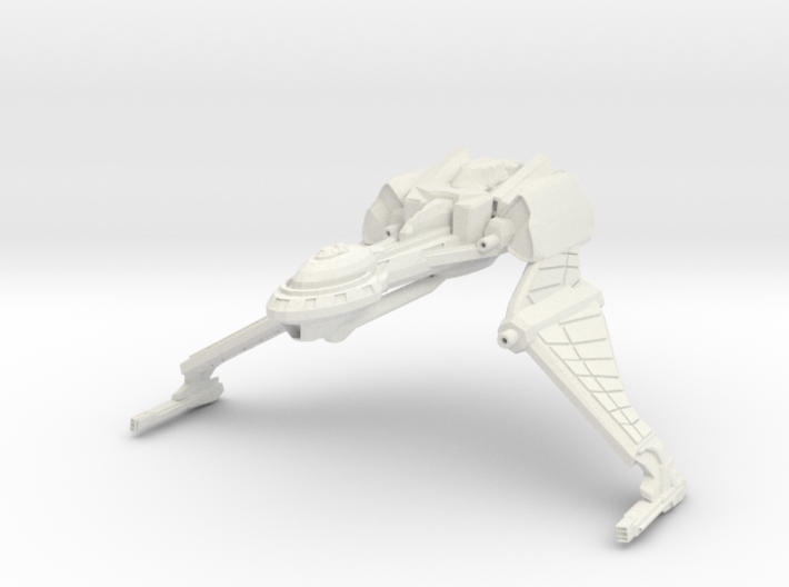 Qu'Hegh Bird Of Pray Class Cruiser -wings Down- 3d printed