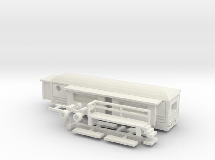 Wohnwagen rundes Dach - 1:160 (n scale) 3d printed