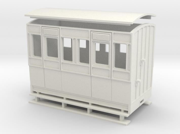 1:32/1:35 4 wheel 3rd class Coach 3d printed