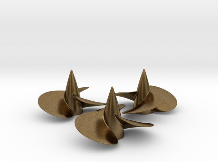 Three ship propellers f. Bismarck/Tirpitz 1/200 V2 3d printed