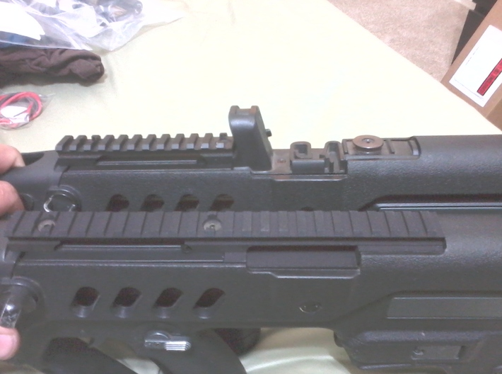 Extended Top Rail for AIRSOFT TOY Ares TAR-21 3d printed