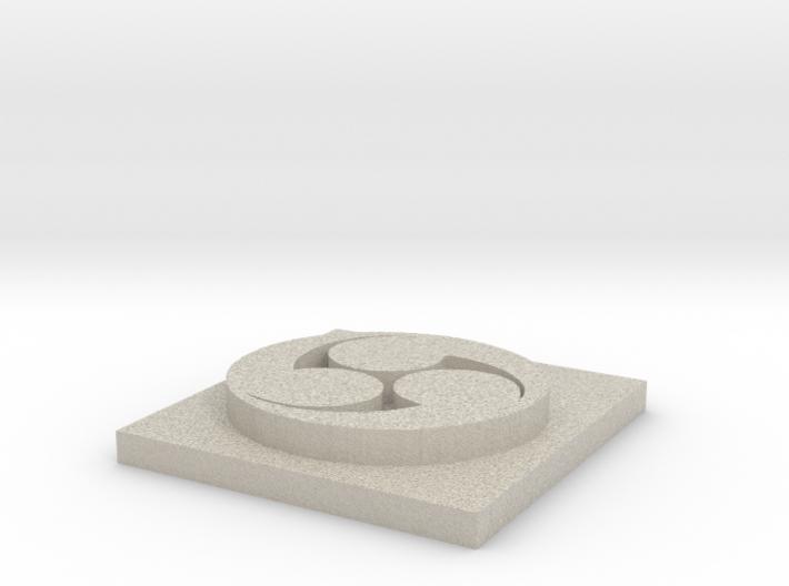 Hidari Symbol 3d printed