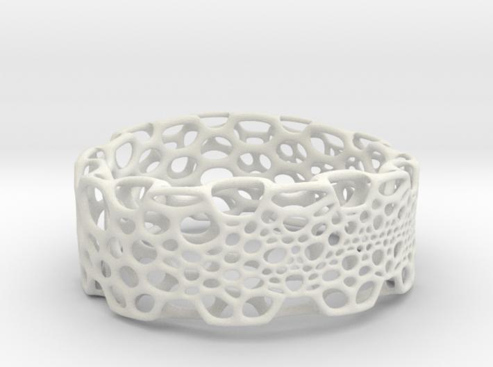 Subdivision Bracelet 3d printed
