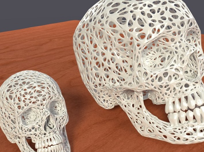 Lace Skull, Full Size 3d printed