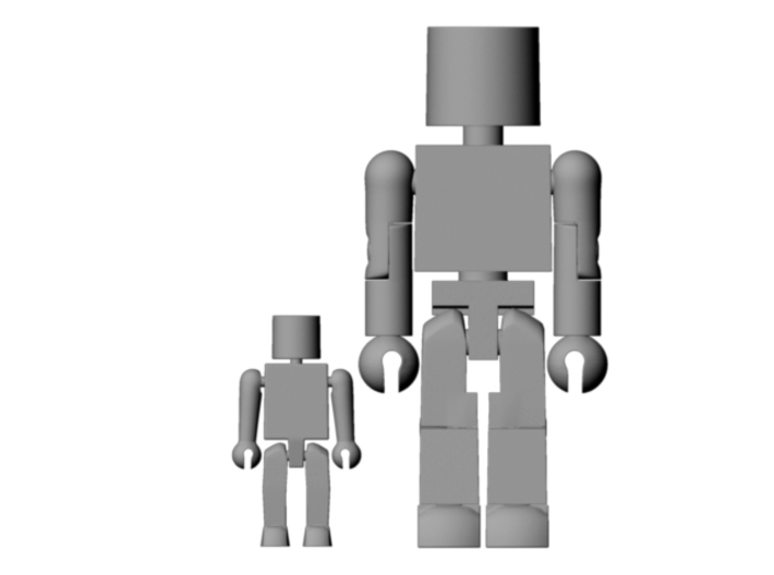 Minimates Child 3d printed For scale comparison to standard size Minimate