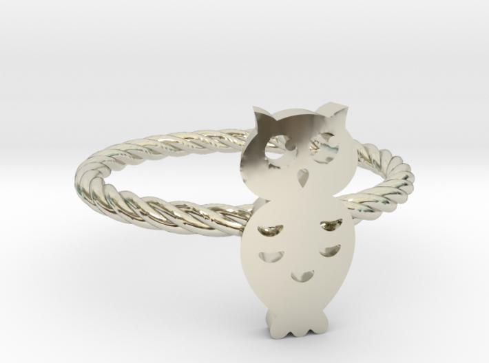 "Owl ""Hoot Hoot"" Midi Ring 3d printed"