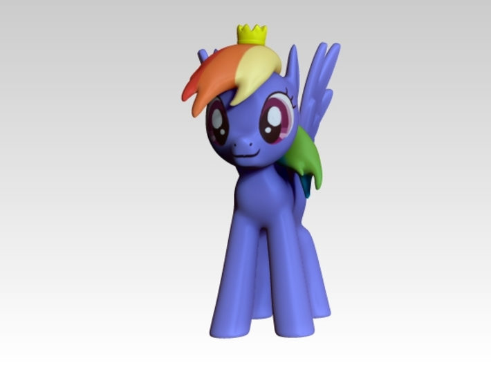 Princess Rainbow Dash 3d printed