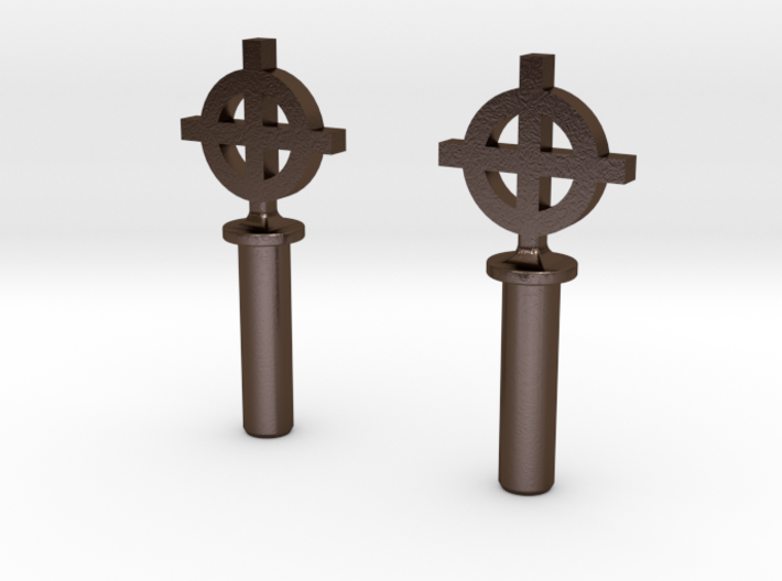"Celtic Cross #8-32 Thumbscrew 0.635"" Thread Length 3d printed"