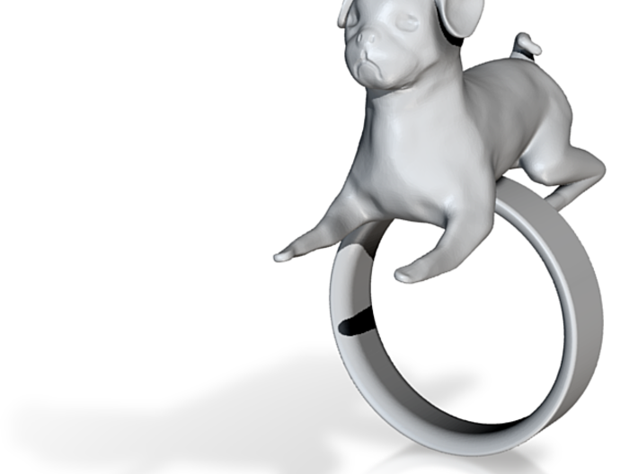 Pug Ring 3d printed