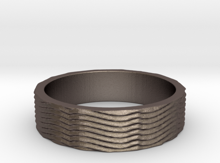 Quantum Energy Wave Ring Size 7 3d printed