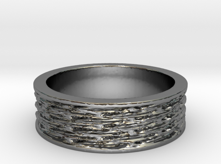 Waves of Matter and Mass Ring Size 7 3d printed