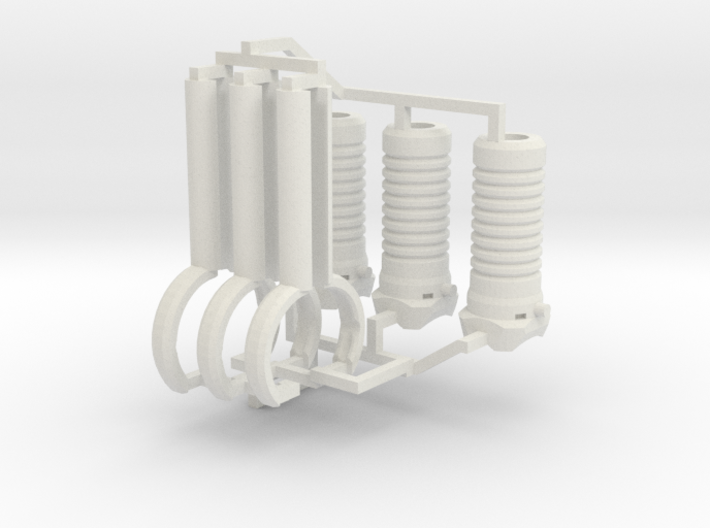 1:6 scale M203 Vertical Grip Set 3d printed