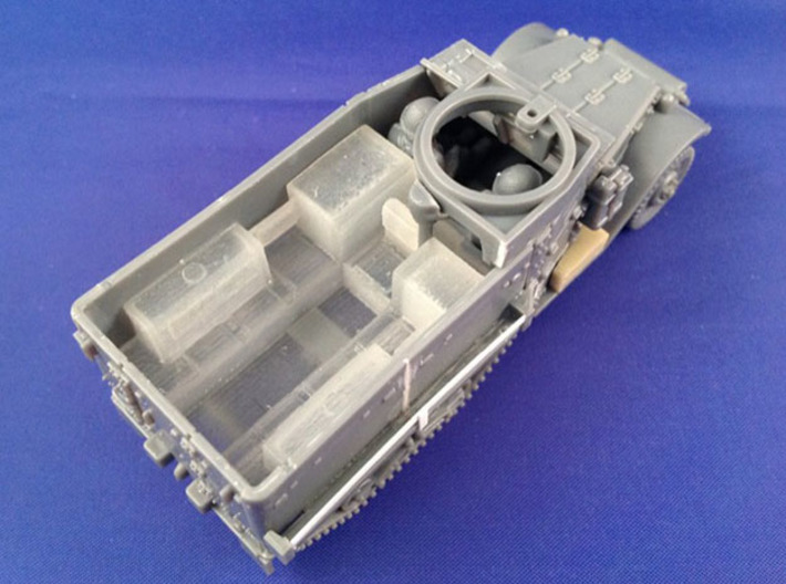 7203C • 1×British M14 and 2×M9A1 Half-track Bodies 3d printed M9A1 conversion used on Plastic Soldier Company M5 half-track kit