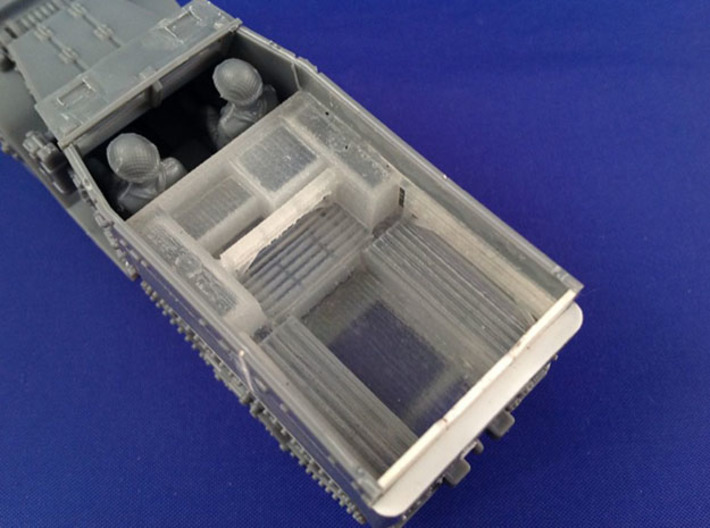 7202A • 2×British M14 Half-track Body 3d printed Conversion used on Plastic Soldier Company M5 half-track kit