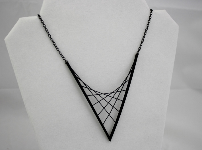 Parabolic Suspension Statement Necklace 3d printed Chain Not Included in Purchase