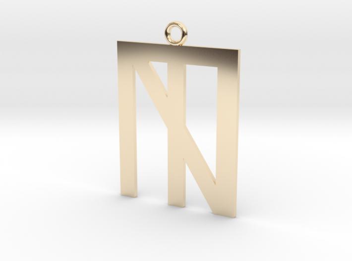 N Crossed Logo 3d printed