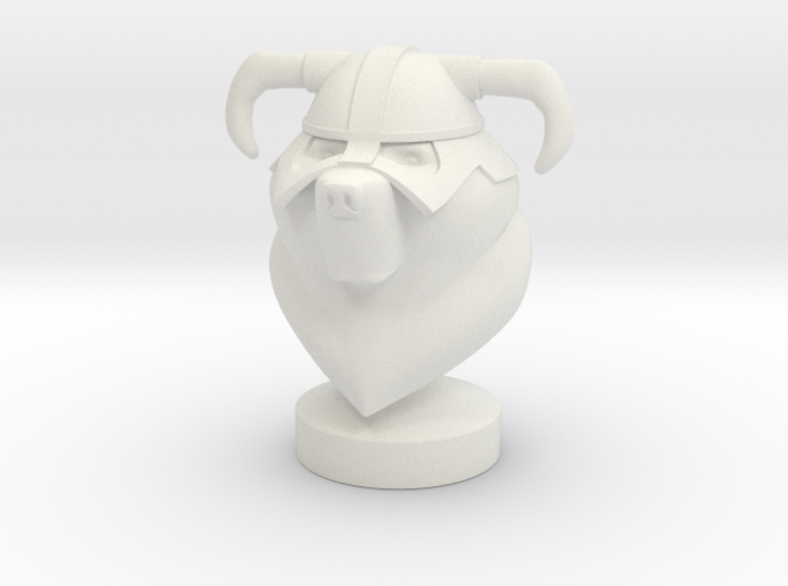 Dovahbear Bust (Strong & Flexible Plastic) 3d printed
