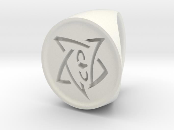 Elder Sign Signet Ring Size 7 3d printed