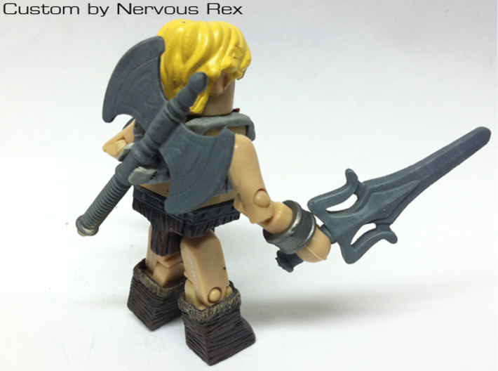He-Man's Battle Axe for Lego 3d printed Custom Minimate by Nervous Rex