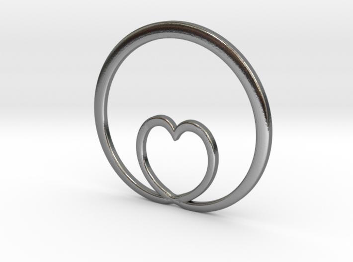 Encircling Love Pendant 3d printed